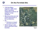 on the fermilab site