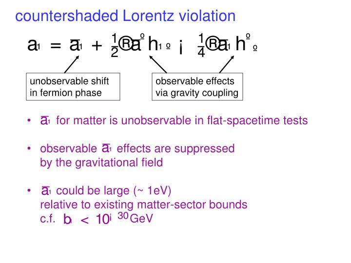 countershaded Lorentz violation