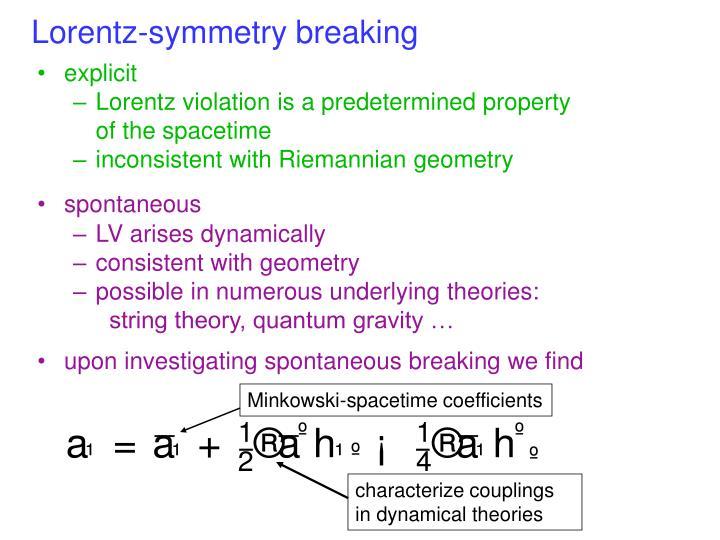 Lorentz-symmetry breaking