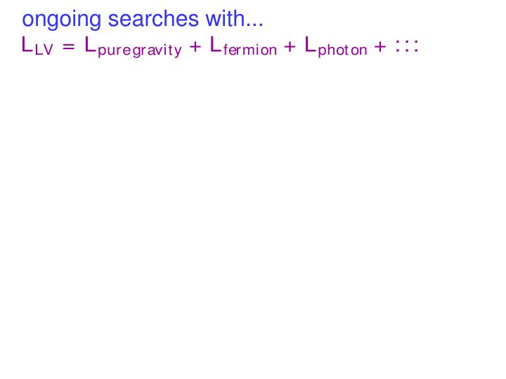 ongoing searches with...