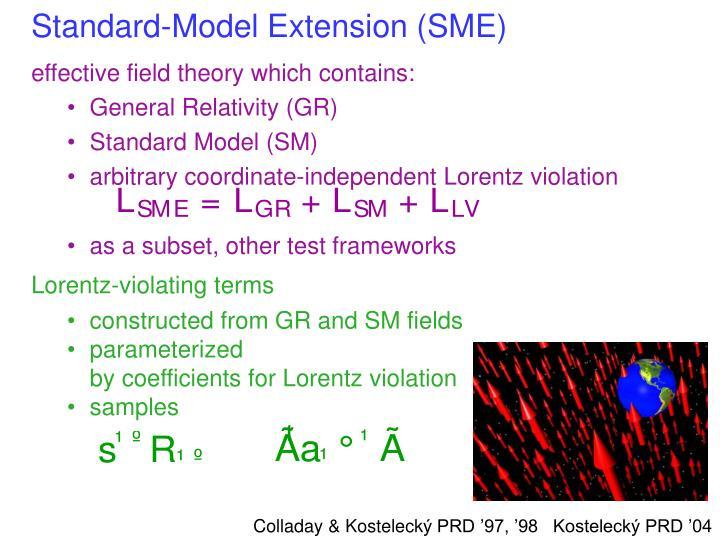 Standard-Model Extension (SME)