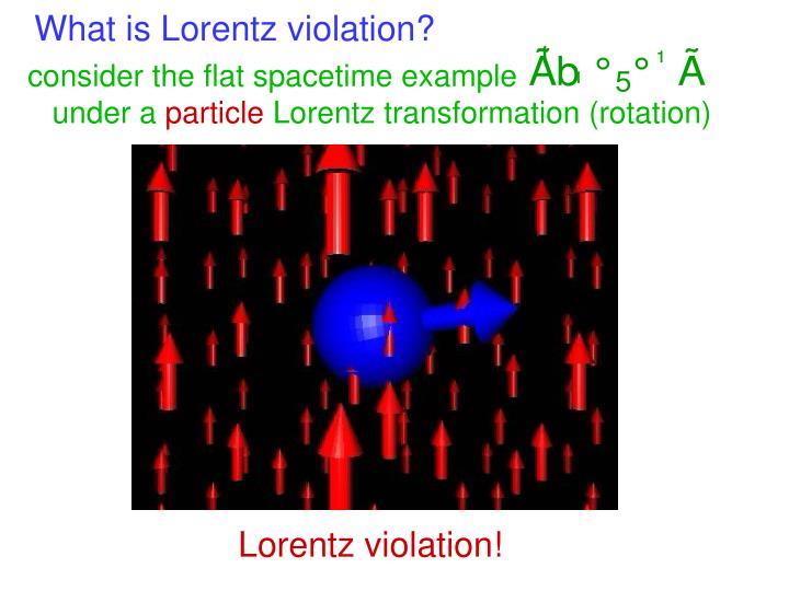 What is Lorentz violation?