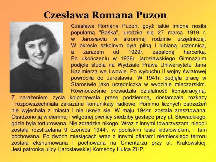 Czesława Romana Puzon