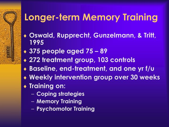 Longer-term Memory Training