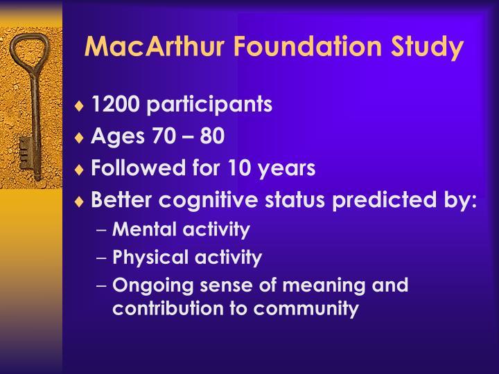 MacArthur Foundation Study