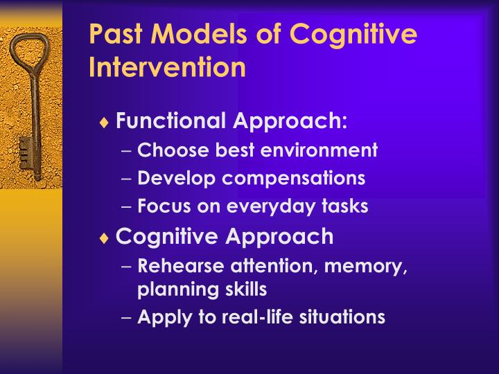 Past Models of Cognitive Intervention
