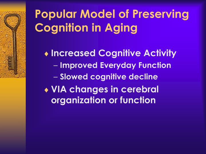 Popular Model of Preserving Cognition in Aging