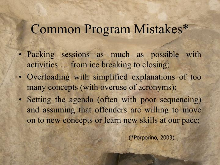 Common Program Mistakes*