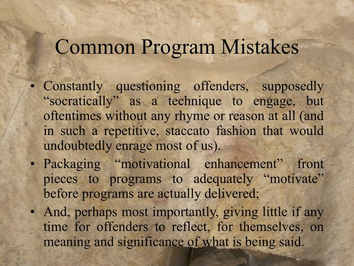 Common Program Mistakes