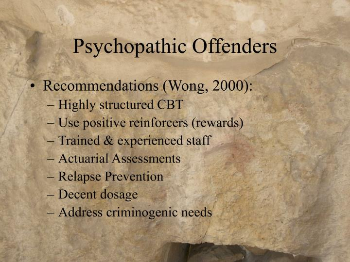 Psychopathic Offenders