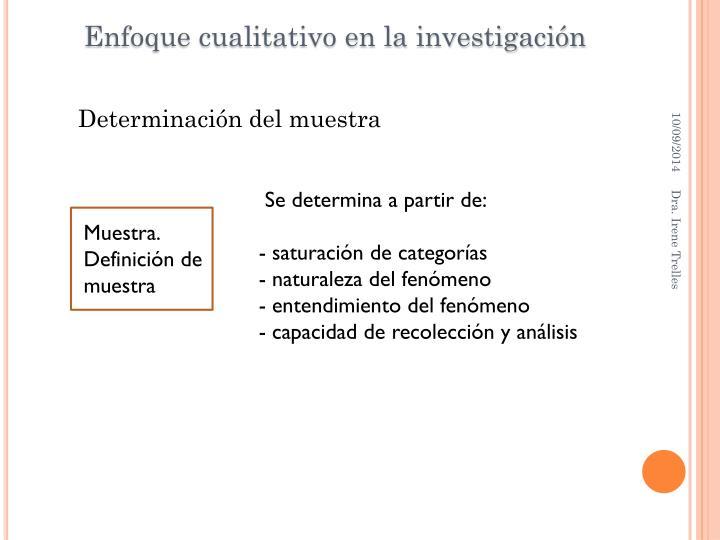 Enfoque cualitativo en la investigación