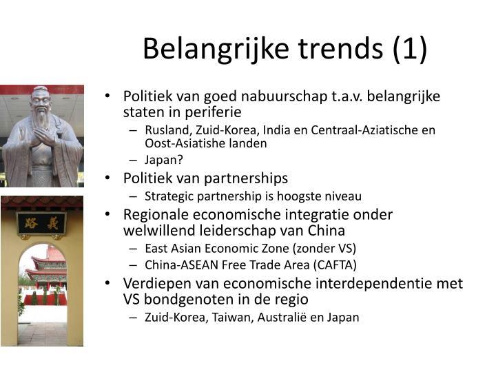 Belangrijke trends (1)
