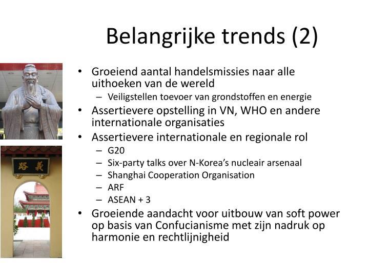 Belangrijke trends