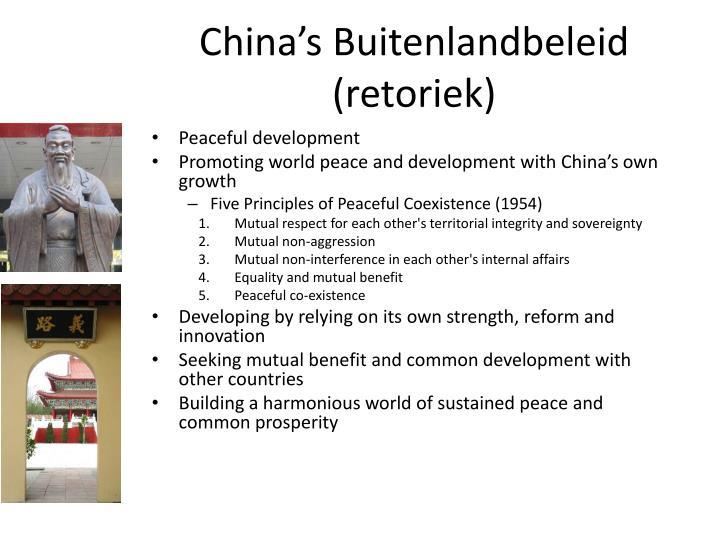 China's Buitenlandbeleid (retoriek)