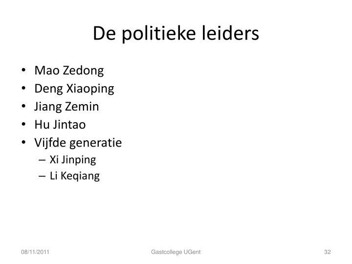 De politieke leiders