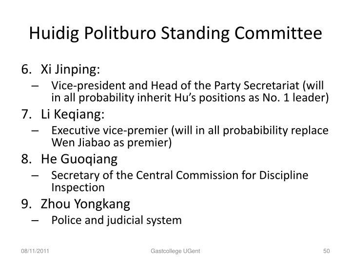 Huidig Politburo Standing Committee