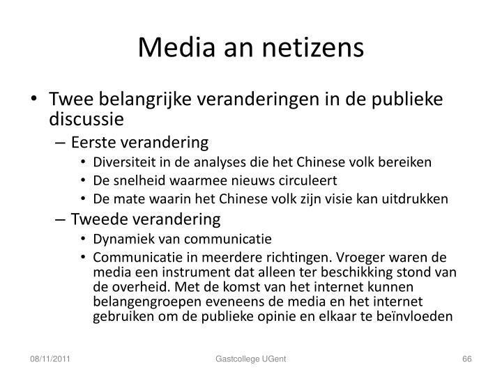 Media an netizens