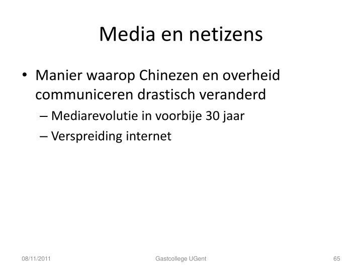 Media en netizens