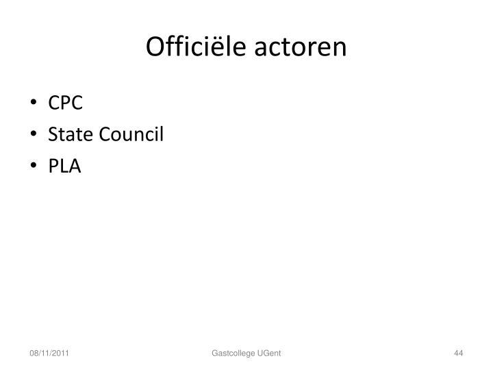 Officiële actoren