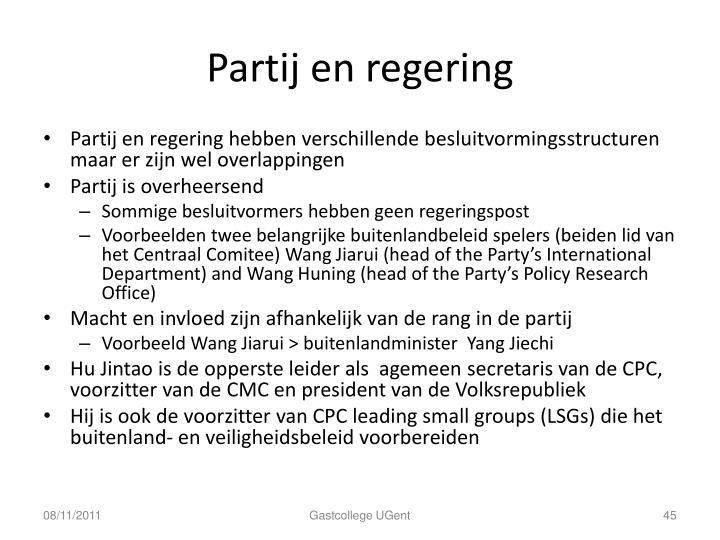 Partij en regering