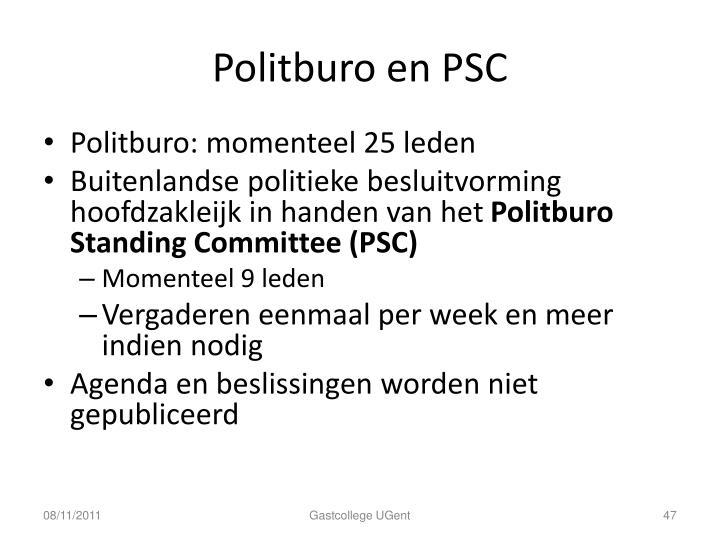 Politburo en PSC