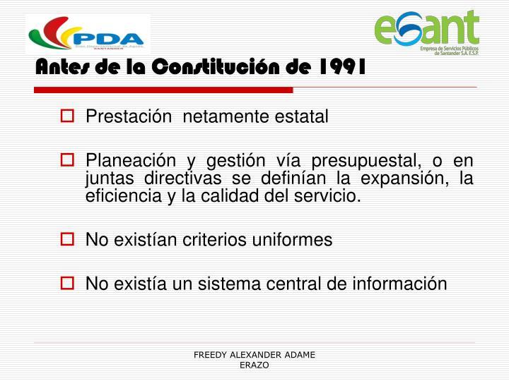 Antes de la Constitución de 1991