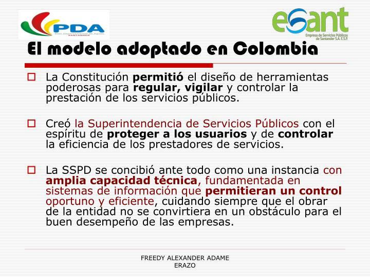 El modelo adoptado en Colombia