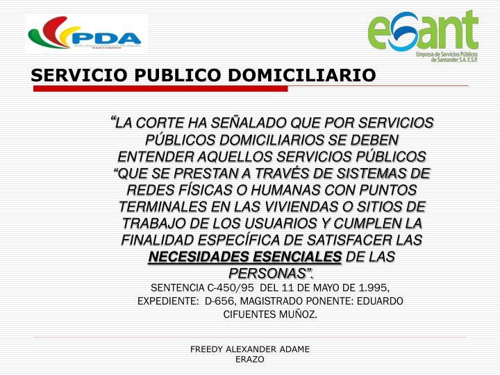 SERVICIO PUBLICO DOMICILIARIO