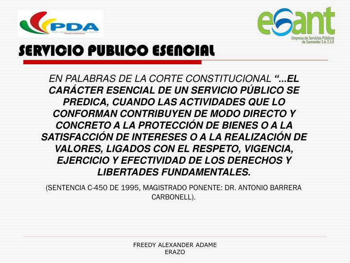 SERVICIO PUBLICO ESENCIAL