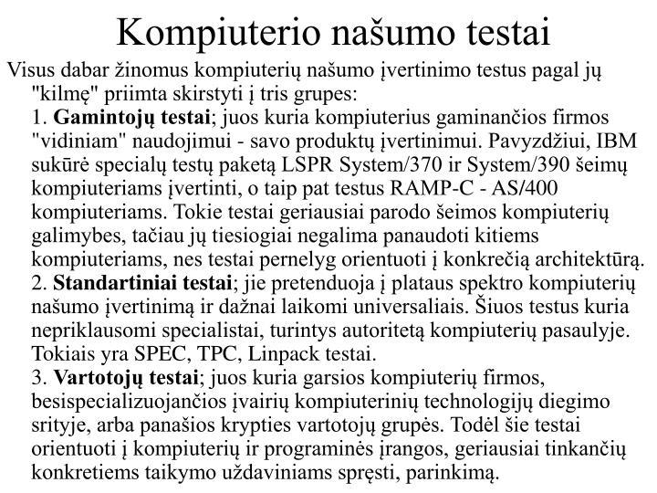 Kompiuterio našumo testai