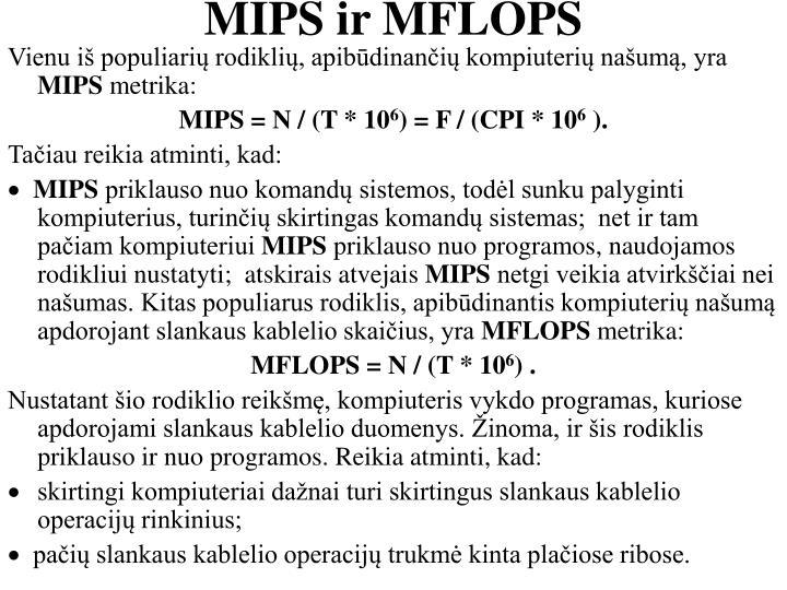 MIPS ir MFLOPS