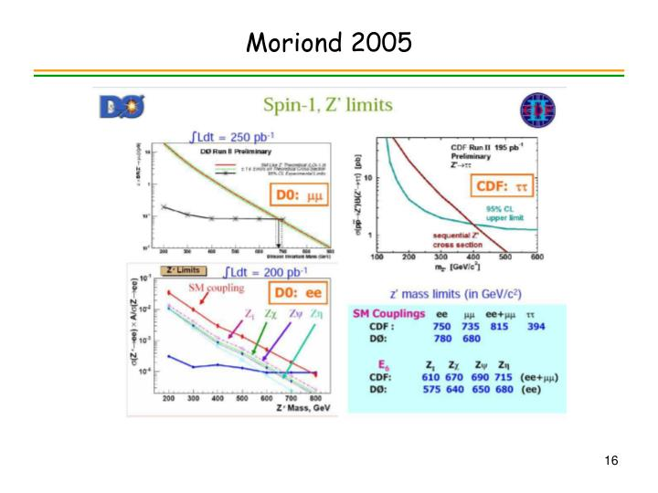 Moriond 2005