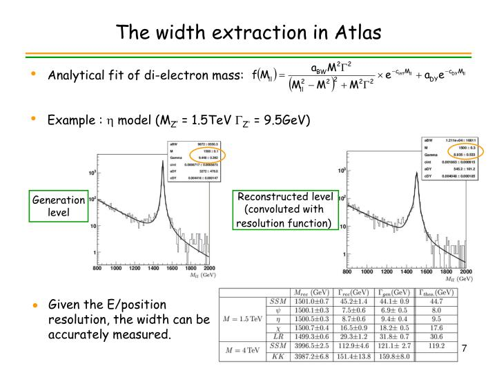 The width extraction in Atlas