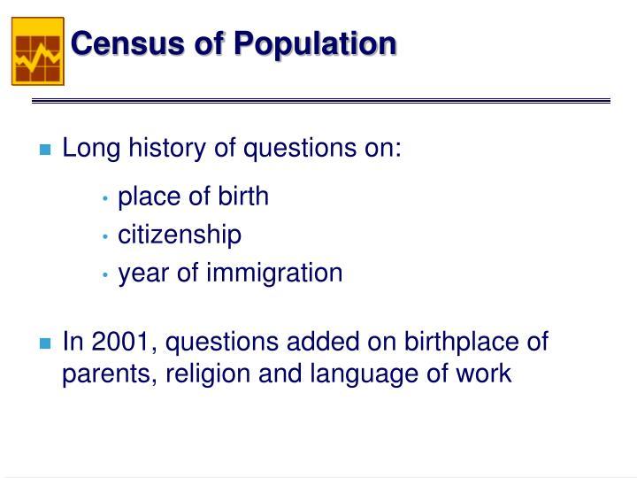 Census of Population
