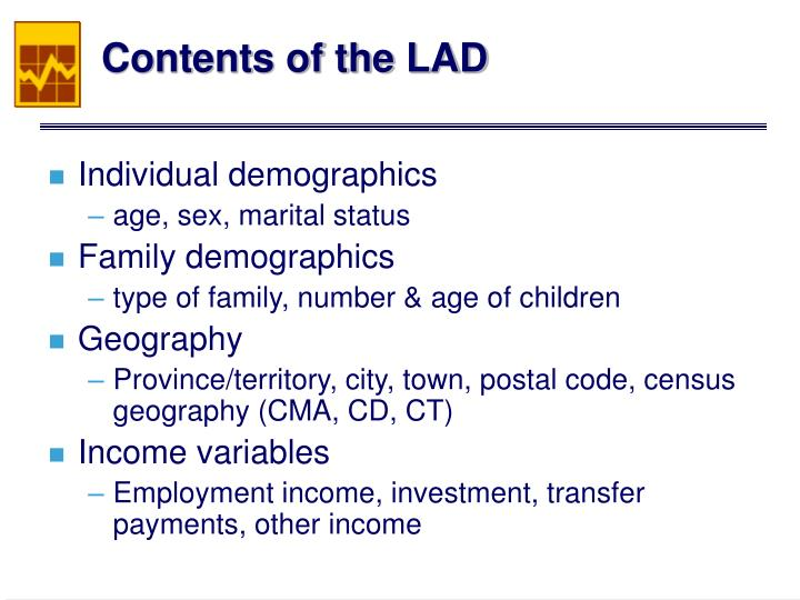 Contents of the LAD
