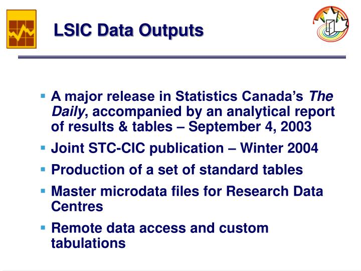 LSIC Data Outputs