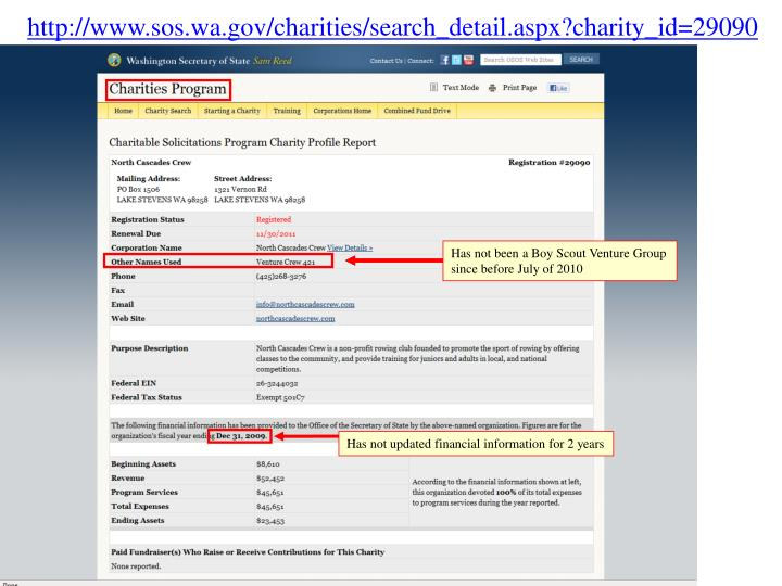 Http://www.sos.wa.gov/charities/search_detail.aspx?charity_id=29090