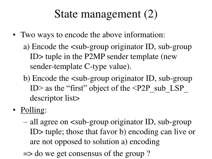 State management (2)