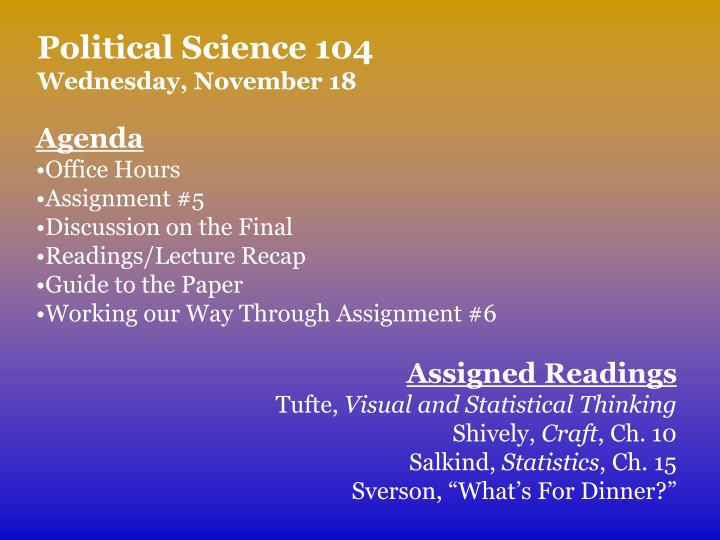 Political Science 104