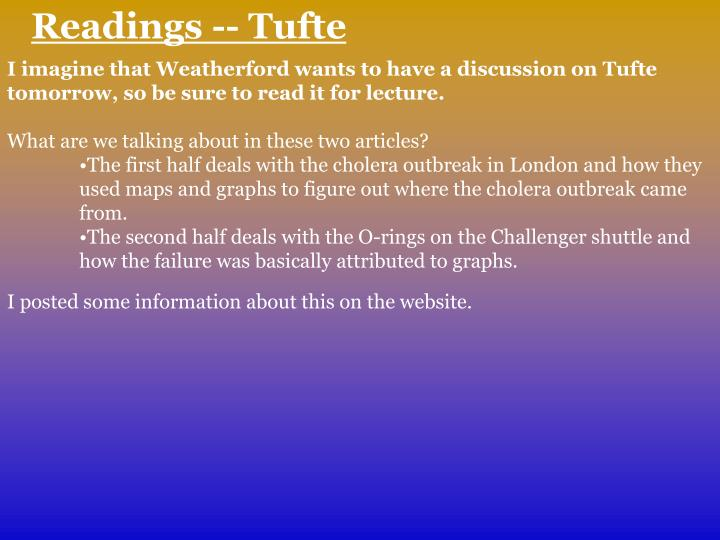 Readings -- Tufte