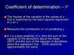 coefficient of determination r 2
