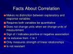 facts about correlation