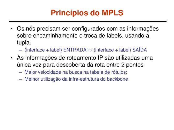 Princípios do MPLS