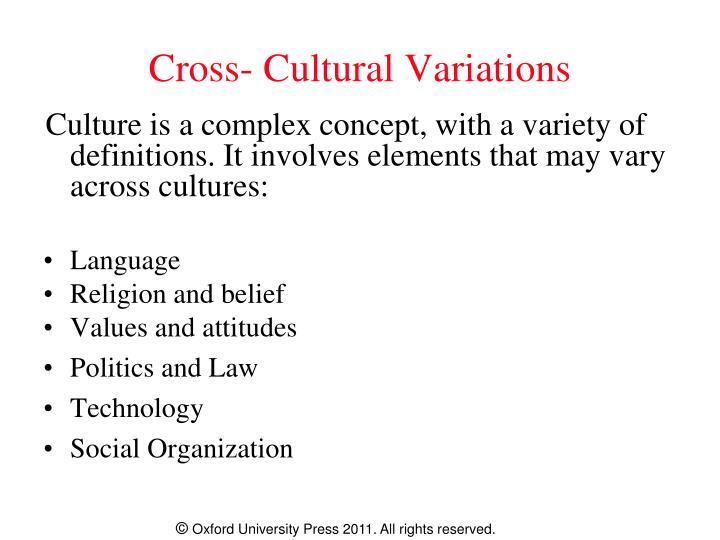 Cross- Cultural Variations