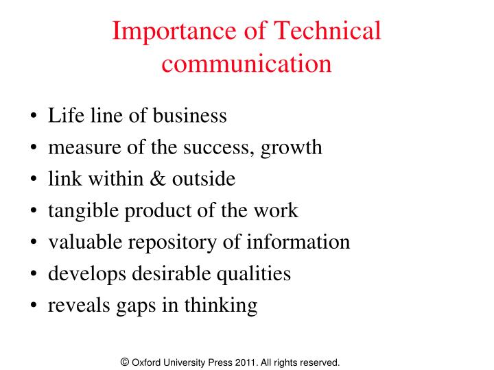 Importance of Technical communication