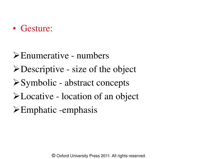 Gesture: