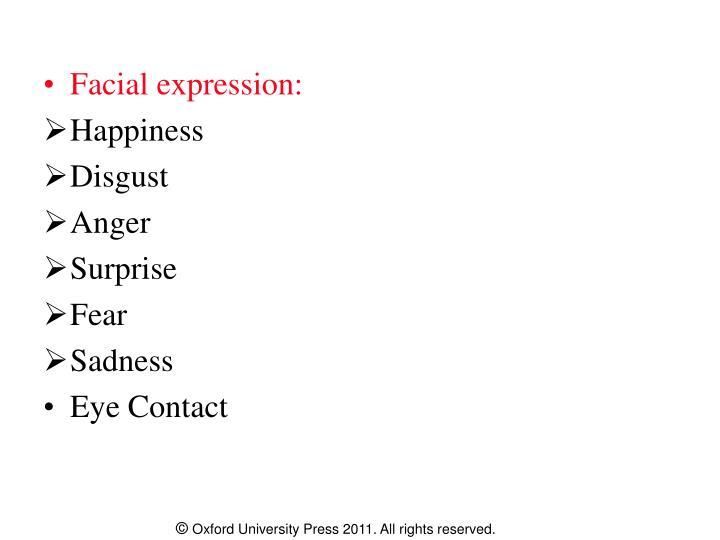 Facial expression: