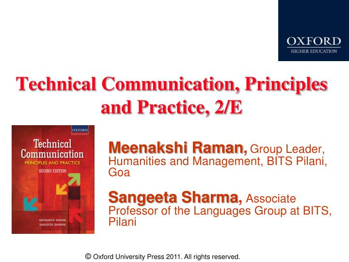 technical communication principles and practice 2 e