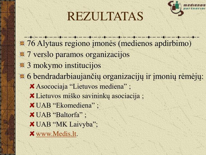 REZULTATAS