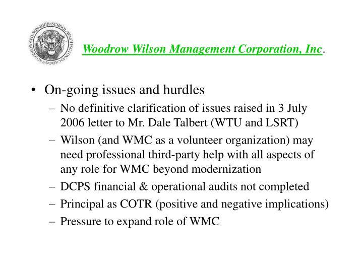 Woodrow Wilson Management Corporation, Inc